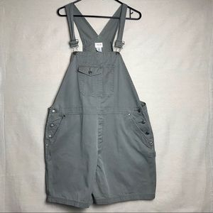 Cherokee Olive Green Overall Shorts Size XL